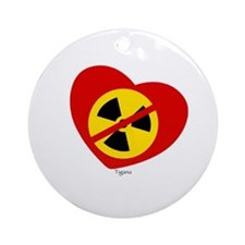 Heart No Nukes (on white) by Tigana Ornament (Roun