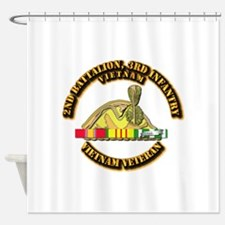2nd Battalion, 3rd Infantry Shower Curtain
