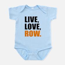 live, love, row Body Suit