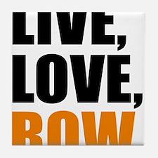 live, love, row Tile Coaster