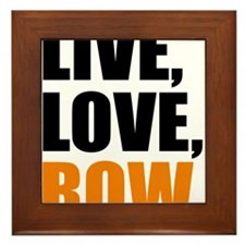 live, love, row Framed Tile