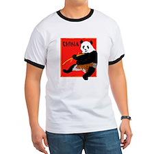 CHINA Panda Bear Red T