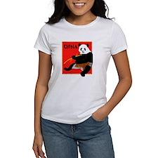 CHINA Panda Bear Red Tee