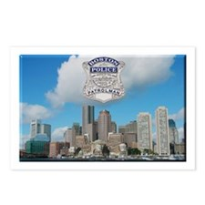 Boston Skyline Police Postcards (Package of 8)