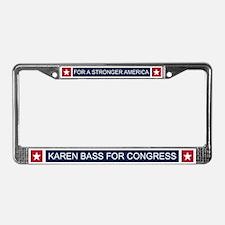 Elect Karen Bass License Plate Frame