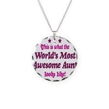 Worlds Most Awesome Aunt Necklace