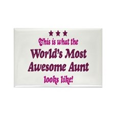 Worlds Most Awesome Aunt Rectangle Magnet