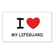 I love lifeguards Rectangle Decal