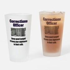 Corrections Officer Drinking Glass