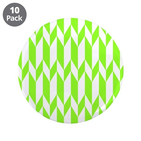 "Lime Green Pattern. 3.5"" Button (10 pack)"