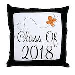 Class of 2018 Butterfly Throw Pillow
