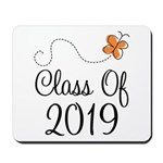 Class of 2019 Butterfly Mousepad