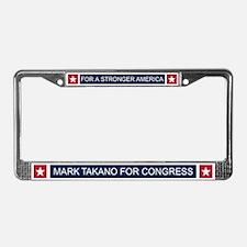 Elect Mark Takano License Plate Frame