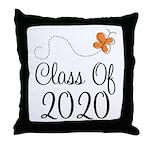 Class of 2020 Butterfly Throw Pillow