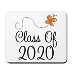Class of 2020 Butterfly Mousepad