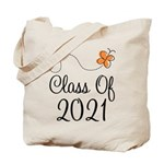 Class of 2021 Butterfly Tote Bag