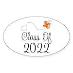 Class of 2022 Butterfly Sticker (Oval 10 pk)