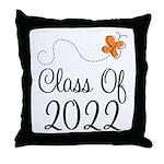 Class of 2022 Butterfly Throw Pillow