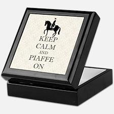Keep Calm and Piaffe On Dressage Horse Keepsake Bo