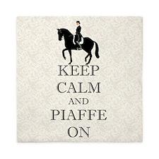 Keep Calm and Piaffe On Dressage Horse Queen Duvet