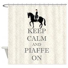 Keep Calm and Piaffe On Dressage Horse Shower Curt