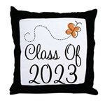 Class of 2023 Butterfly Throw Pillow