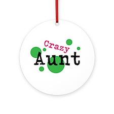 Crazy Aunt Ornament (Round)