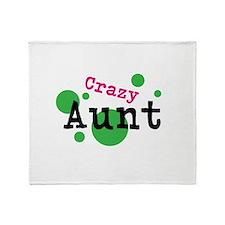 Crazy Aunt Throw Blanket