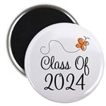 Class of 2024 Butterfly Magnet