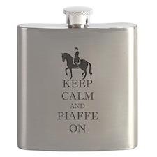 Keep Calm and Piaffe On Dressage Horse Flask