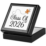 Class of 2026 Butterfly Keepsake Box