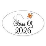 Class of 2026 Butterfly Sticker (Oval 10 pk)