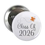 "Class of 2026 Butterfly 2.25"" Button"