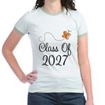 Class of 2027 Butterfly Jr. Ringer T-Shirt