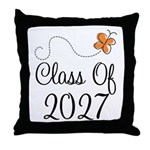 Class of 2027 Butterfly Throw Pillow