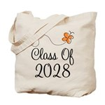 Class of 2028 Butterfly Tote Bag