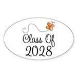 Class of 2028 Butterfly Sticker (Oval 50 pk)