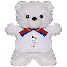 Keep Calm and Piaffe On Dressage Horse Teddy Bear