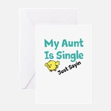 Single Aunt Greeting Card
