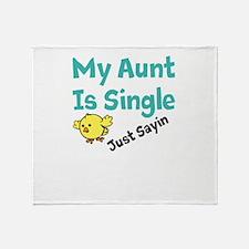 Single Aunt Throw Blanket