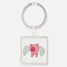 Flying Pig Keychains