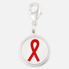 Red Awareness Ribbon Charms