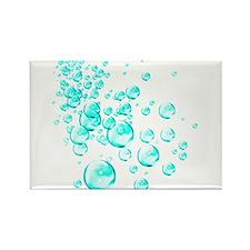 aqua bubbles Rectangle Magnet