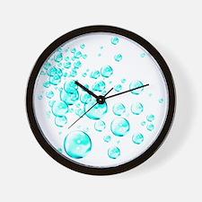 aqua bubbles Wall Clock