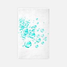 aqua bubbles 3'x5' Area Rug