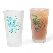 aqua bubbles Drinking Glass
