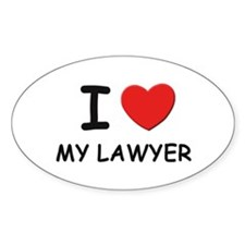 I love lawyers Oval Bumper Stickers