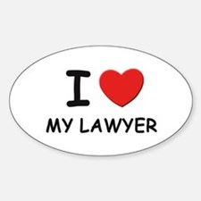 I love lawyers Oval Decal