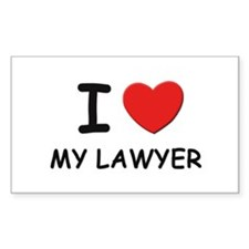 I love lawyers Rectangle Decal