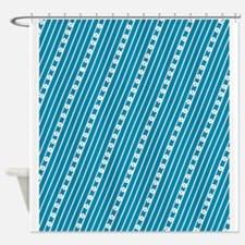 Stars Stripes Ditto 47 Designer Shower Curtain